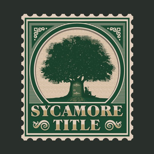Sycamore Title Postage Style Logo