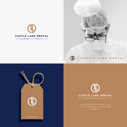 Logo Design for Castle Lake Dental