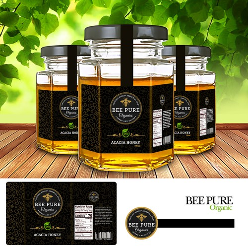 Lable Deisgn for Bee Pure