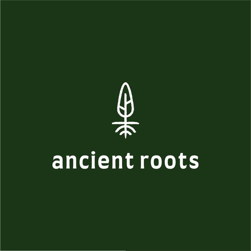 an ancient look like tree logo