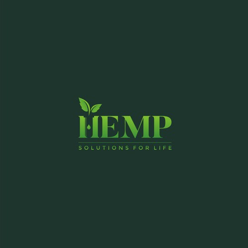 "Cool ""sciencey"" logo for HEMP Solutions, LLC"