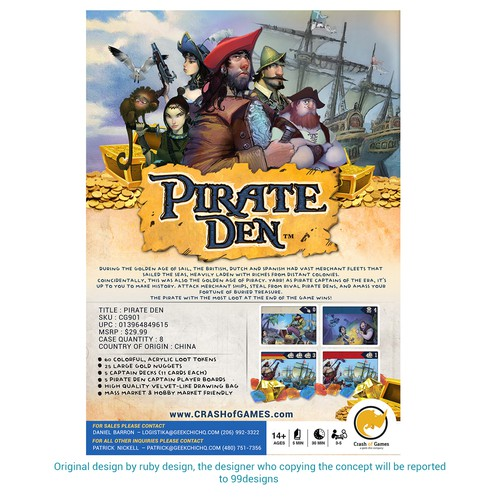 Flyer Contest For Pirate Den