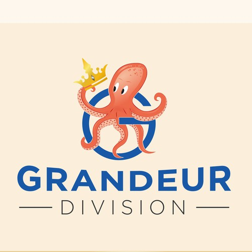Grandeur Division and or a Octopus (mascot) with a floating crown
