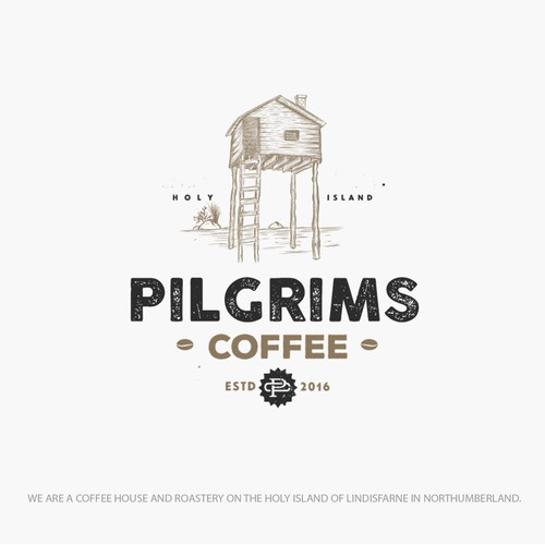 Logo design concept for a coffee roasting company