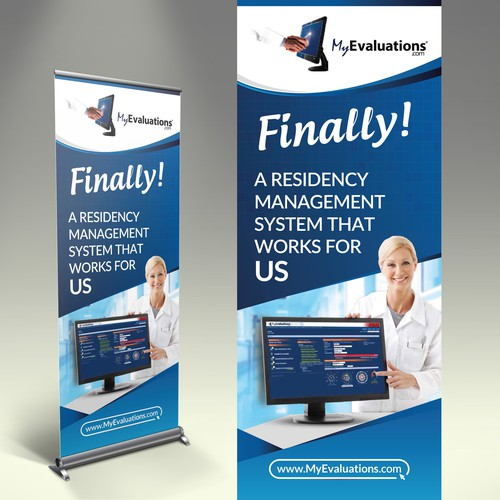Create a pop-out banner for medical conference