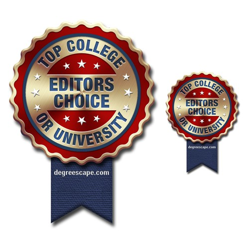 "Design an ""Editors Choice Award Badge"" for a College & University Review Website"