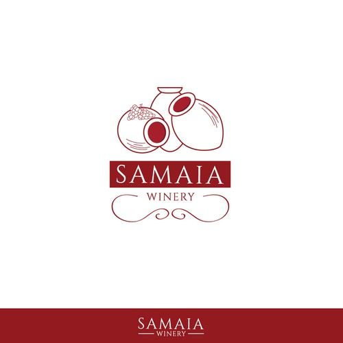 Logo concept for a Georgian wine producer