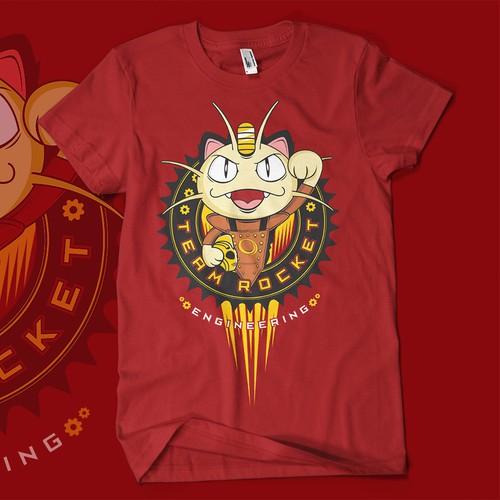 POKEMON Themed T-shirt Design