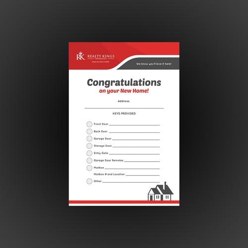 Real Estate Key Envelope