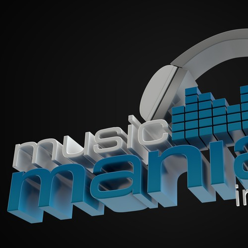 Music Mania 3D logo design