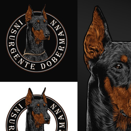 T-shirt design for a dog training club