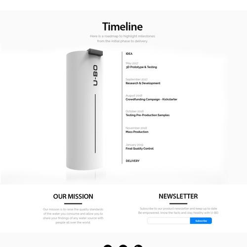 Clean Landing Page desain for U-Bo