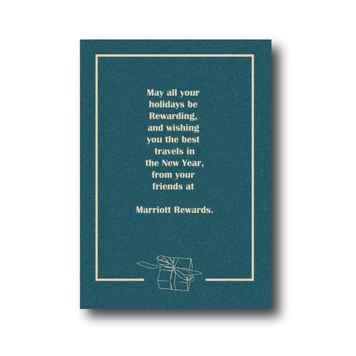 Holiday card for Marriott Rewards