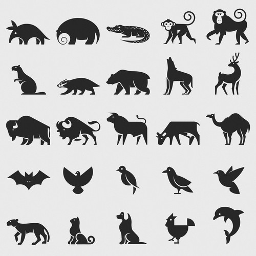 animal glyphs