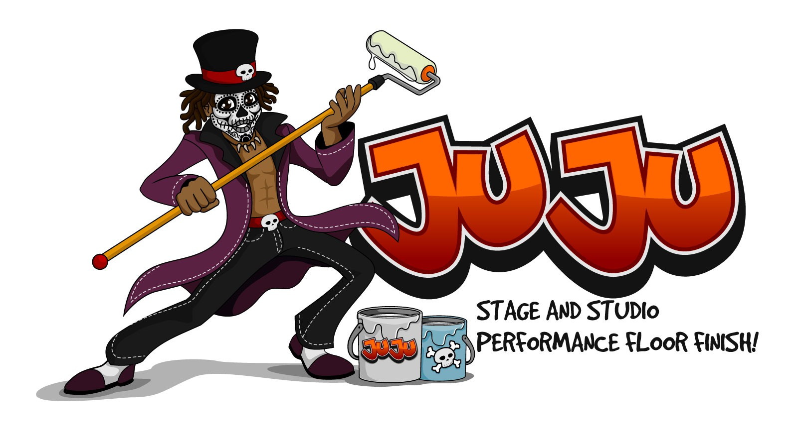 STM Studio Supplies need a hip character logo for Juju: Stage and Studio Performance Floor Finish!