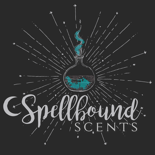logo for hand mixed scents with a magical feel