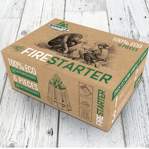 Eco fire starter box design