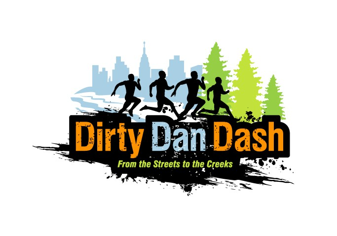 Create the next logo for Dirty Dan Dash