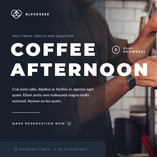 Coffee & Beverages Website UI Design