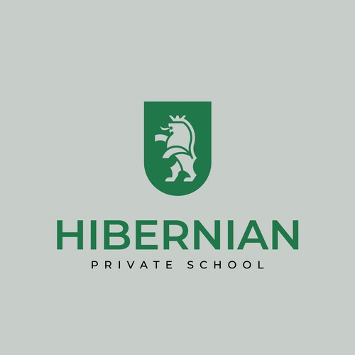 Logo for a modern school