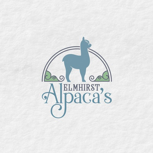 Elegant and feminine logo for an alpaca farm