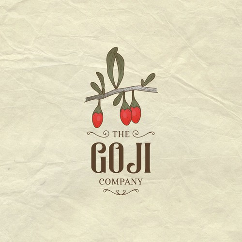 Logo for a goji berry company
