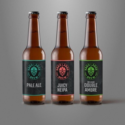 Minimalist label for craft beer brand