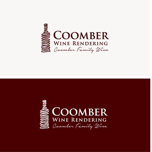 Coomber wine graphic concept