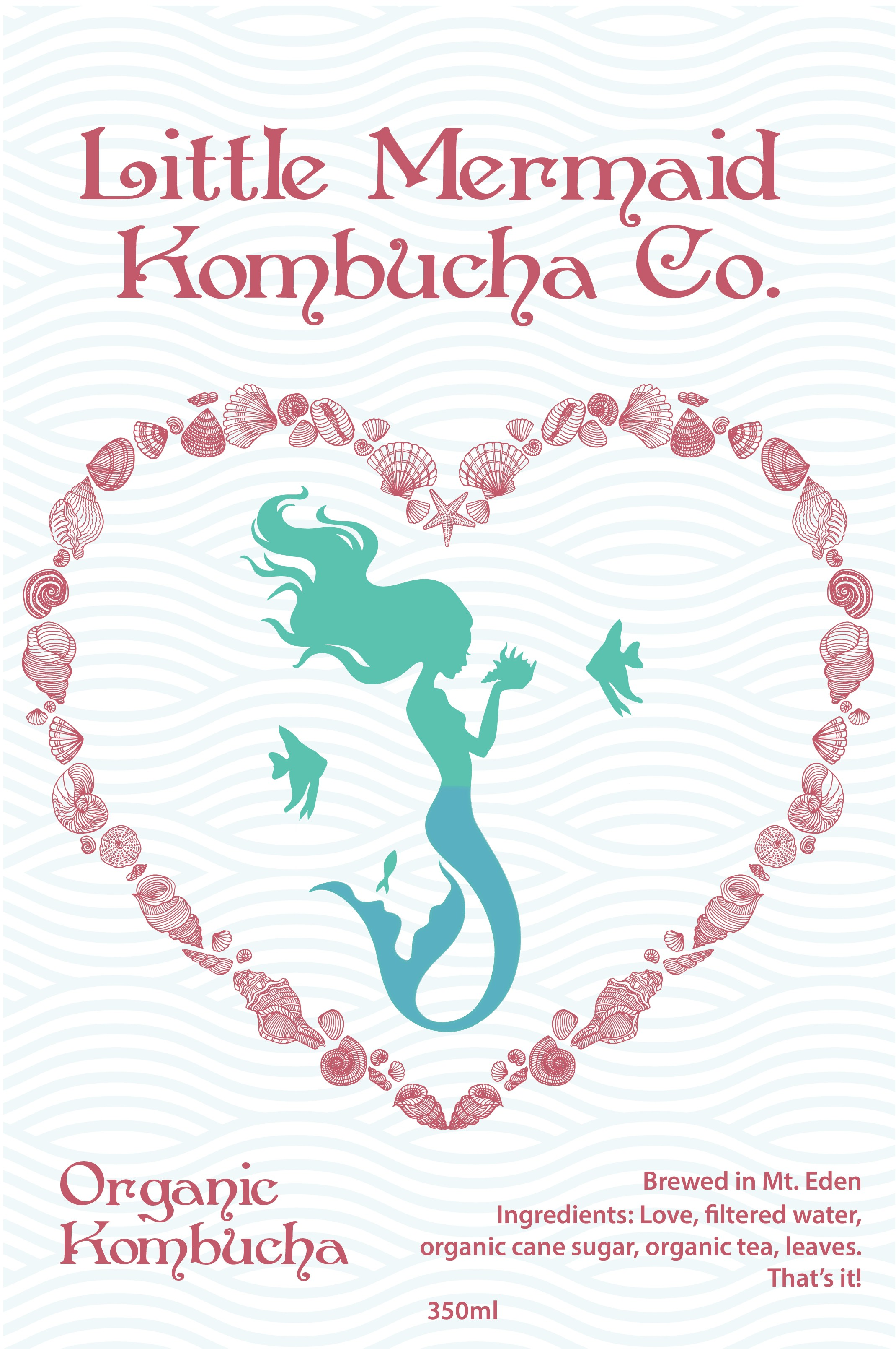 Design a fun label for our kombucha which brings happiness to those who see it.
