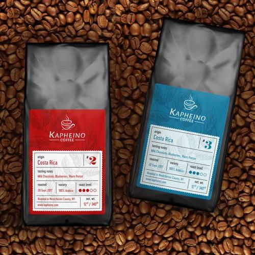 Coffee label design