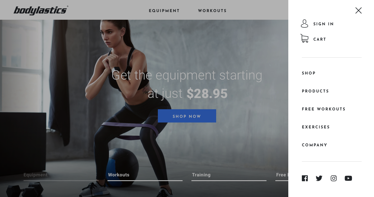 New Website design for World class fitness company