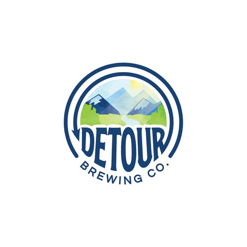 Brewery landscape logo