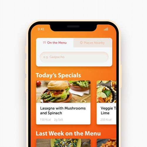 App Design - Nutrition