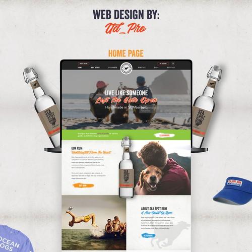 Website design for handmade Rum distributors