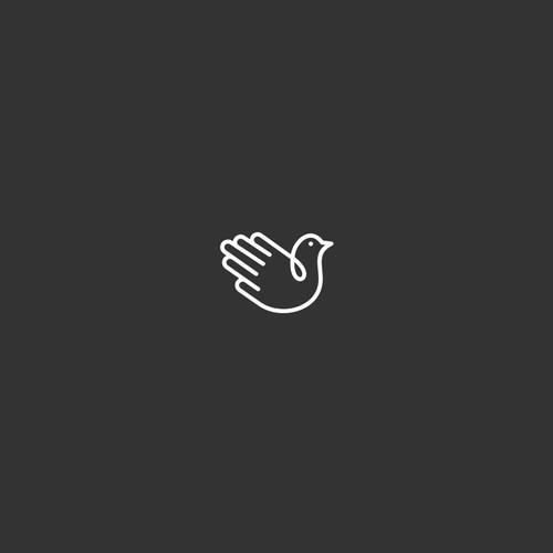 the bird's hand logo