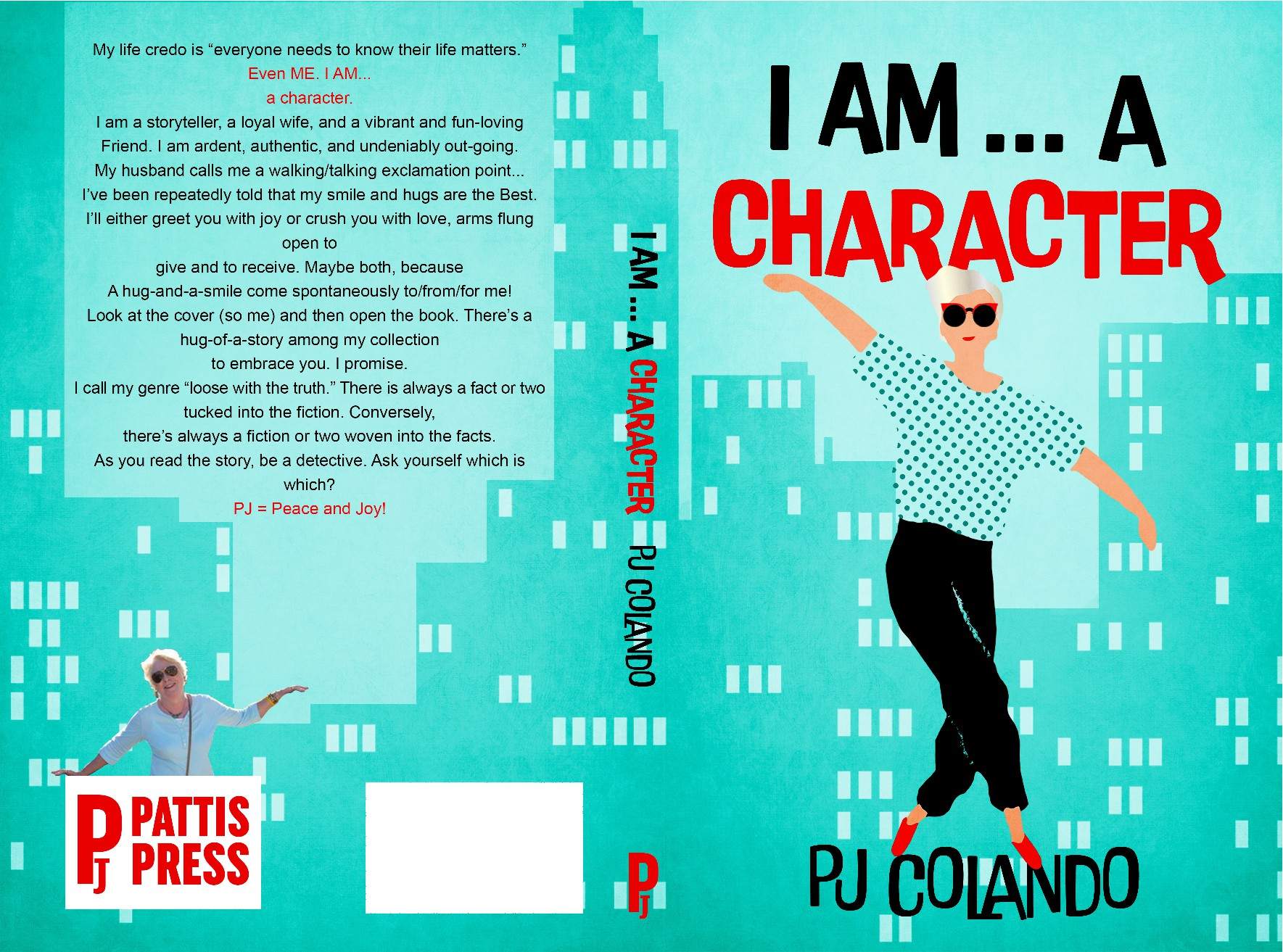 Create a whimsical and direct book cover