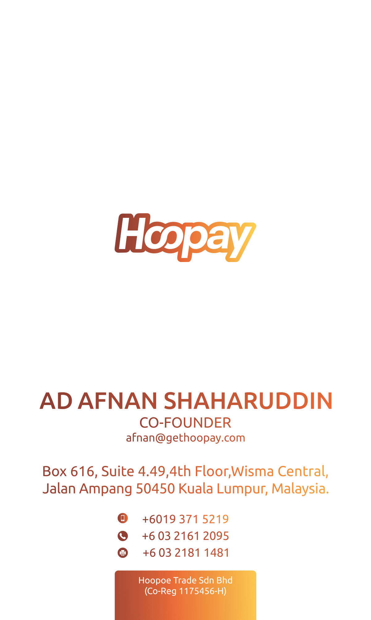 Hoopay multi currency card to ease travelling and money transfer.