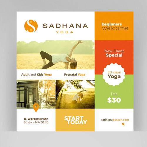 Fresh Yoga Studio advertising