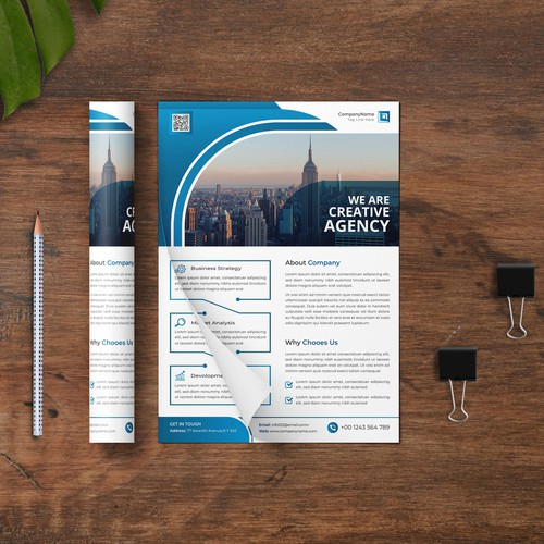 corporate business flyer or brochure design