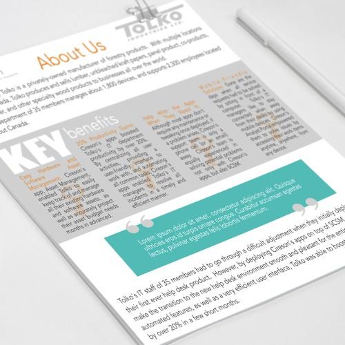 Minimalistic brochure
