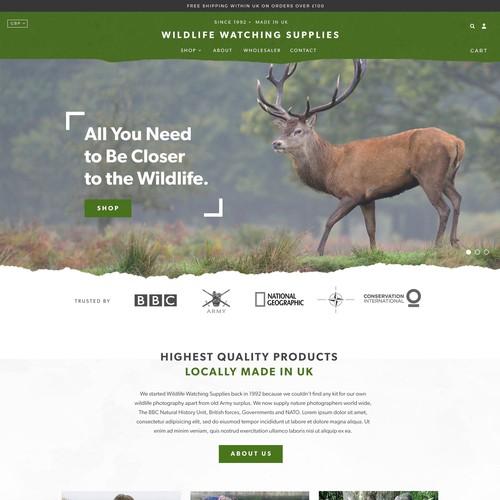 Wildlife Photographer Ecommerce Site