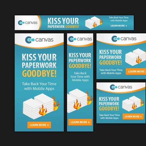 Create new banner ad designs for a company that helps businesses go paperless
