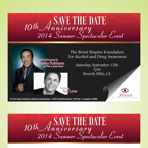 Save The Date Card for Elegant Charity Event
