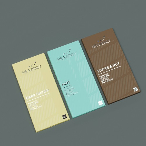Minimalist luxurious chocolate label