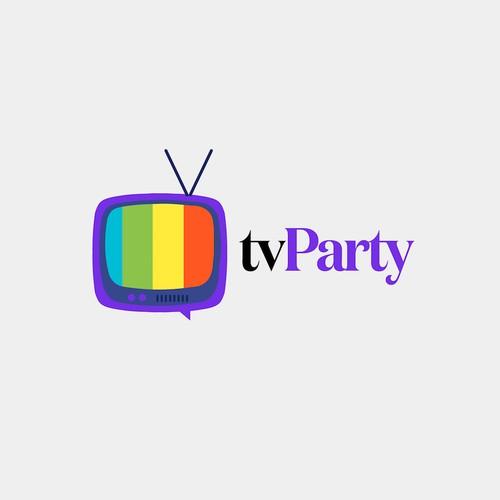 Logo for a social TV app