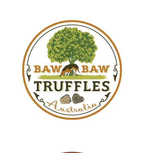 logo design for baw baw truffles