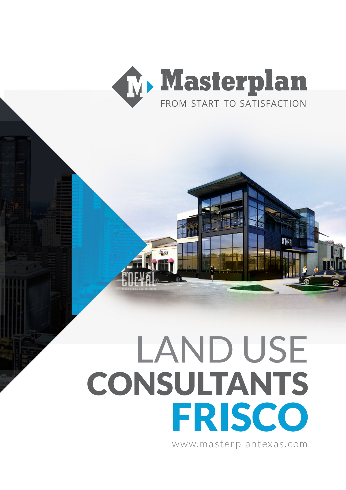 Marketing brochure for a new office branch in Frisco, TX.