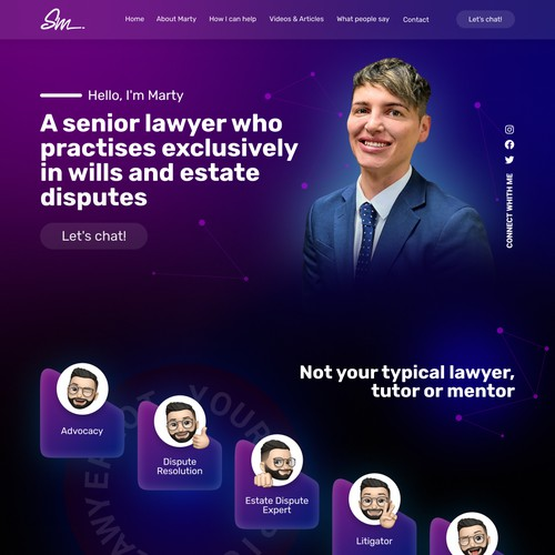 Funky, Creative Personal Brand Website for Lawyer
