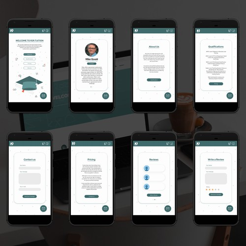 Mobile version of the R2R Tuition website