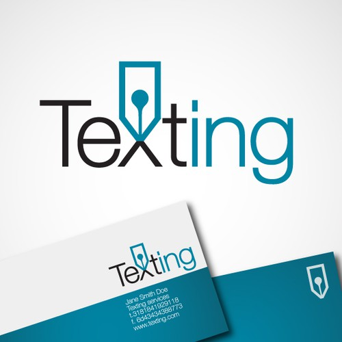 logo for 'Texting'